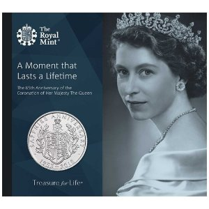 The Royal Mint蓝宝石加冕女王2018版