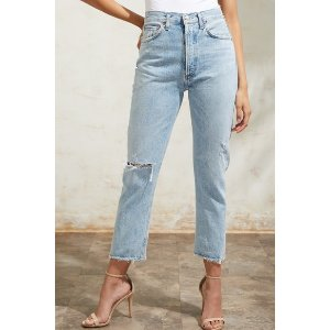 AGOLDE高腰牛仔裤