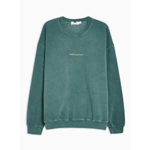 TopmanWashed Green Santa Monica Sweatshirt