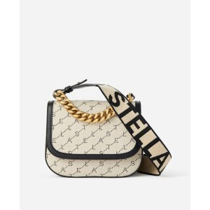Women's Beige Monogram Shoulder Bag | Stella McCartney Men