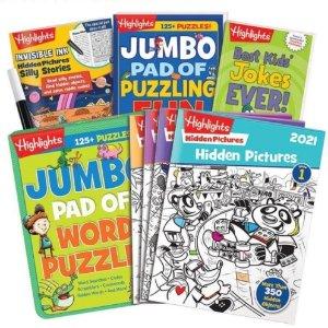 满$30减$5,满$50减$10Highlights 儿童趣味书礼盒促销,多年龄段可选