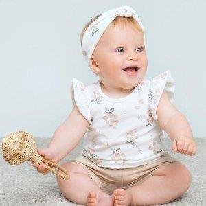 7折起+满额减$10 爬服低至$5Petite Lem 好柔柔的宝宝衣 100%纯棉两件套$19.6起