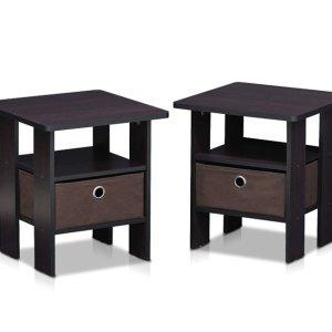 $69.45(原价$113.08)Furinno Furinno 2-11157DWN 咖啡色床头柜2个