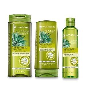 Yves Rocher自然发酵醋,无硅配方,清洁头皮发醋洗护套装