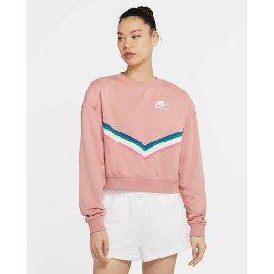 Nike粉色圆领衫