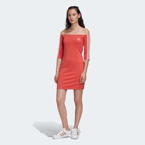 Adidas一字肩连衣裙