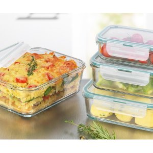 GOURMETmaxx 玻璃食品储藏盒 8件套,让食物新鲜不串味道
