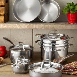 低至3折 10件套只要$179Lagostina 红点设计不锈钢锅具热卖  意大利顶级厨具