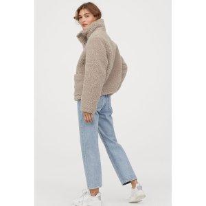 H&M毛绒短外套