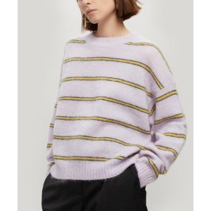 Acne StudiosKhira Thin Stripe Mohair-Blend Sweater