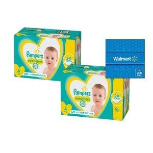 Swaddlers 婴儿纸尿裤2箱装,价格随尺寸变化
