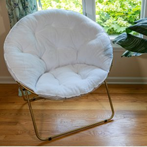 $29.88Mainstays Oversized Plush Saucer Chair, White