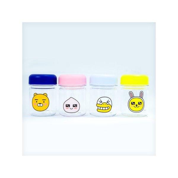 高品质卡通 料理盒套组 儿童食品分装瓶 180ml *4个装