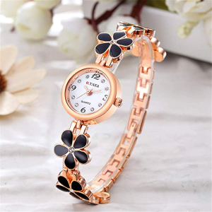 $9.49O.T.Sea Rose Gold Flower Bracelet Watch