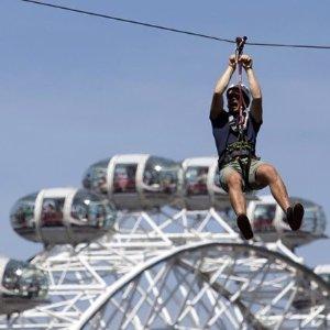 低至65折 极速俯瞰伦敦地标建筑勇敢者的游戏 伦敦市中心高空滑索体验