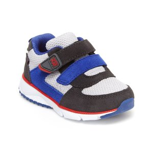 Stride RiteGray & Blue Color Block Kash Sneaker - Boys