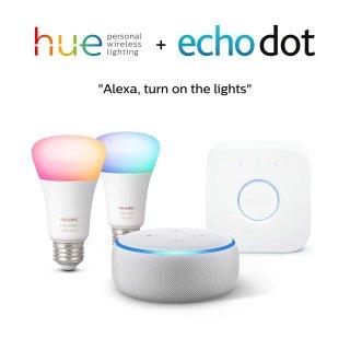$89.99Philips Hue A19彩色 智能灯泡入门套装 + Echo Dot