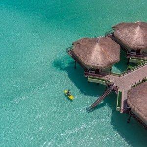 $1799起 入住5星级海上水屋别墅墨西哥坎昆周边 5晚机票+全包酒店旅行套餐 美国多地出发