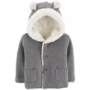 Carter'sSherpa-Lined Hooded Cardigan