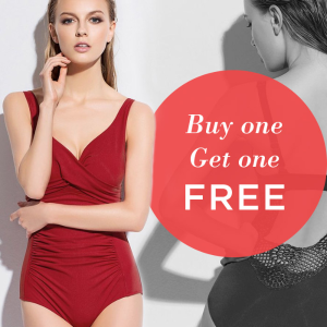 Buy one get one free + Extra 20% off on 2 or moreSelect Swimwear @ Eve's Temptation