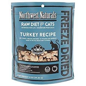 Amazon.com : Northwest Naturals Turkey Freeze Dried Raw Diet For Cats 11 Ounces : Pet Supplies