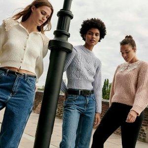 一律7折 £41收小西装外套Topshop 精选初秋闪促 解锁时髦精的时尚宝库