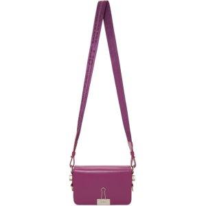 Off-White粉色Mini夹子包