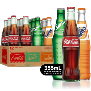 $18Mexican Coke Fiesta Pack, 12 fl oz Glass Bottles, 12 Pack