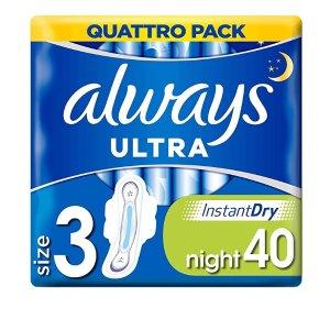 always夜用卫生巾 40片