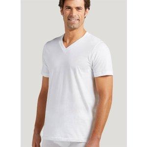 V领白T恤 12件装