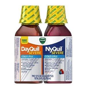 $13.94 1瓶仅$6.97Vicks 日用、夜用感冒液体糖浆 莓果味 2瓶