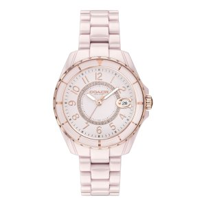 Coach粉色陶瓷腕表