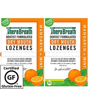 TheraBreath – Dry Mouth Lozenges – Mandarin Mint Flavor – Soothes Dry Mouth Symptoms – Certified Vegan – Sugar Free – Dentist Formulated Lozenges – 200 Count