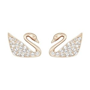SwarovskiMini Swan Rose Gold Earrings