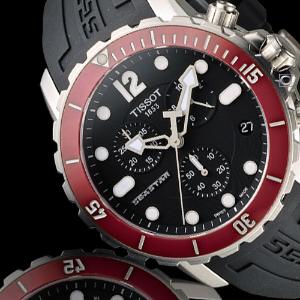 $239TISSOT  T-Sport Seastar Chronograph Black Dial Men's Watch No. T066.417.17.057.01