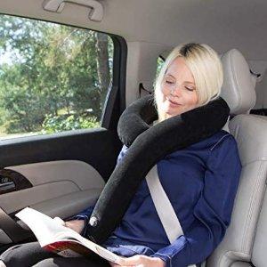 手慢无!史低价 $9.97(原价$34.95)Royal Limits旅行用9型长款充气枕