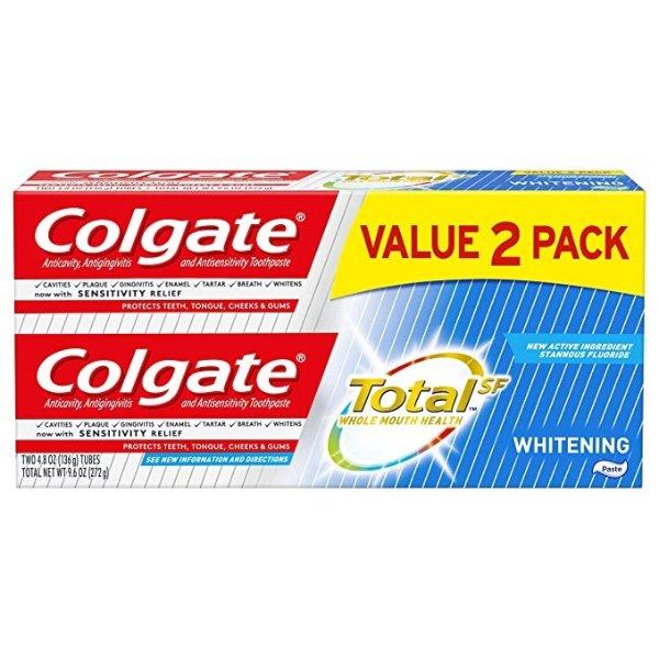 美白牙膏 4.8 盎司 (2 支装)