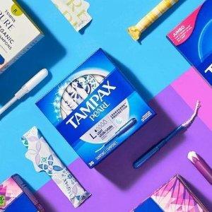 16个€4.45 新手也能用!Tampax 丹碧丝卫生棉条 导管式更好用 解放女性经期神物