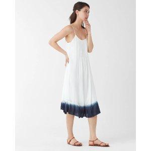 扎染吊带连衣裙