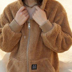 低至5折 £45收封面焦糖色外套UO 泰迪熊外套大促 冬天里人手一件的可爱外套