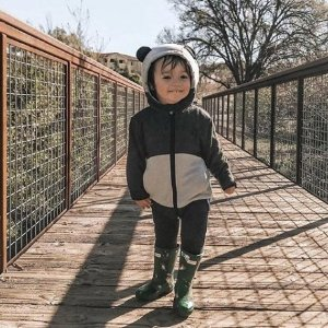 购此款即包邮Cubcoats 熊猫造型公仔外套 超萌外套,带给宝宝双重温暖