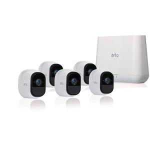 $549.99 (原价$819.99)Netgear Arlo Pro 无线智能安防系统 5个摄像头套装