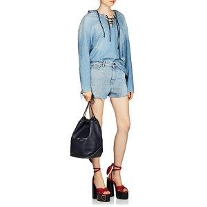 Saint Laurent牛仔短裤