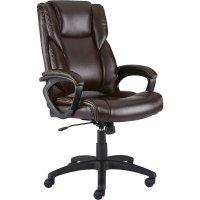 皮质棕色办公电脑椅 (50870)