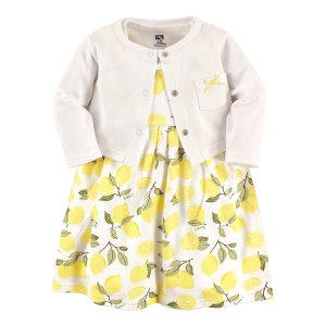 9df898f4f Hudson BabyYellow Lemon A-Line Dress & Cream Bow-Pocket Cardigan - Newborn,