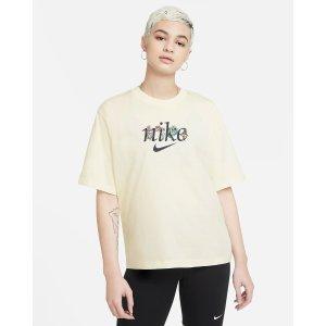 Nike淡黄色短袖