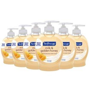 补货:Softsoap 牛奶蜂蜜味洗手液 7.5oz 6瓶装 $0.93/瓶