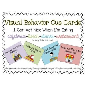 Visual Behavior Cue Cards: I Can Act Nice When I'm Eating 打印素材