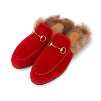 Gucci 毛毛穆勒鞋 仅35.5