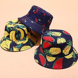 $12.99 收清爽牛油果styleFordicher 时尚水果渔夫帽热卖 双面设计 遮阳显脸小